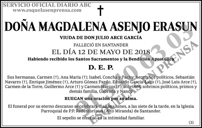 Magdalena Asenjo Erasun
